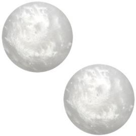 Polaris Cabochon Coin 12 mm Mosso Shiny Ice Grey (per 1)