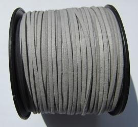 Suede Imitation 3 mm Light Gray SU015 (1 meter)