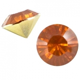 Resin Chaton SS29 Dark Topaz Opal (per 10)