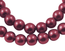 Glasparel Dark Red 8 mm Y-100 (per 80 cm streng)