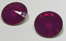 Resin Rivoli 16 mm Fuchsia Opal (per 2)