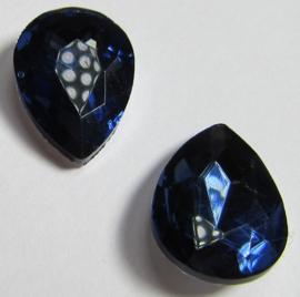 Glass Drop 13 x 18 mm Dark Montana (per 1)