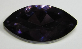 Glass Navette 17 x 32 mm Purple Velvet (per 1)