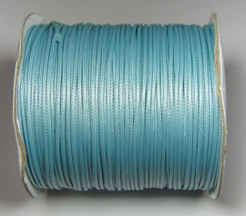 Waxed Cord 1,5 mm Light Blue W116 (1 meter)