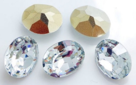 Resin Oval 10 x 14 mm Crystal (per 3)