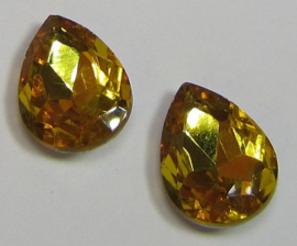 Glas Druppel 10 x 14 mm Sunflower Yellow (per 2)