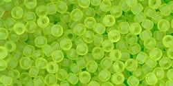 TR-11-4F Transparent-Frosted Lime Green (10 g.)