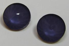 Glass Rivoli 12 mm Powdery Purple Velvet (per 2)