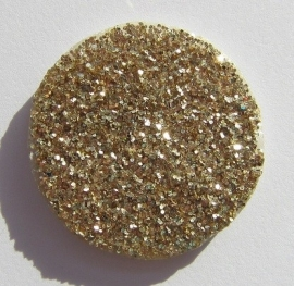 Cabochon Druzy Look-a-Like Gold G328 (per 1)