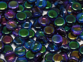 DiscDuo Beads 6 x 4 mm Crystal Magic Blue (per 25)