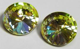 Glass Rivoli 12 mm Rainbow Yellow (per 1)