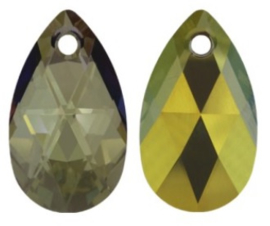 Swarovski Drop 6106 28 mm Crystal Iridescent Green (per 1)