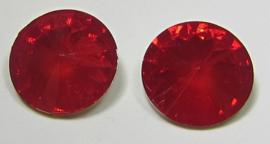 Resin Rivoli 16 mm Siam Red Opal (per 2)
