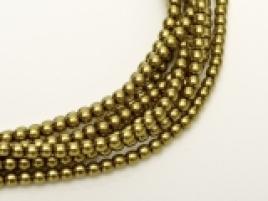 Glasparel Old Green Gold 3 mm (per 44 cm streng)