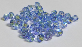 Swarovski Bicone 3 mm Light Sapphire Shimmer 2x (per 50)