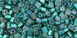 TG-11-270 Inside-Color Crystal/Prairie Green Lined (per 10 gram)