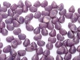 Pinch Beads 5 x 3 mm Chalk White Lila Vega Luster (per 10 gram)