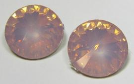 Resin Rivoli 16 mm Rose Opal (per 2)