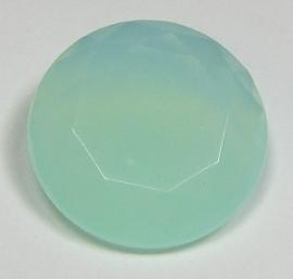 Resin Rivoli 27 mm Mint Opal (per 1)