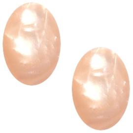 Polaris Cabochon Ovaal 10 x 13 mm Mosso Shiny Light Peach (per stuk)