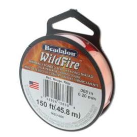 "Beadalon Wildfire Red (0.008"") 0,20 mm (per rol van 45 meter)"