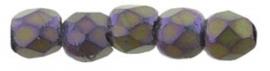 Fire Polished 2,5 mm Matte Iris Purple (per 50)