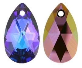 Swarovski Drop 6106 28 mm Crystal Heliotrope (per 1)