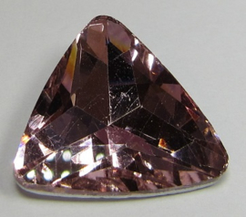 Glass Triangle 23 mm Pink (per 1)