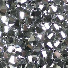 Preciosa Bicone 3 mm Crystal Labrador Full (per 50)