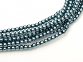 Glass Pearls Cerulean 2 mm *40 (36 cm strand)