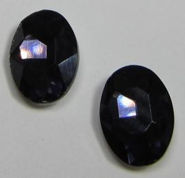 Glass Oval 10 x 14 mm Purple Velvet (per 2)