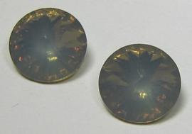 Resin Rivoli 10 mm Grey Opal (per 4)