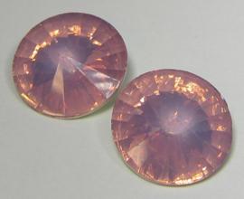 Resin Rivoli 18 mm Dark Rose Opal (per 2)