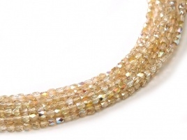 Facet 2 mm Crystal Lemon Rainbow (per 150)