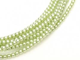 Glass Pearls Creme Mint 2 mm (36 cm strand)