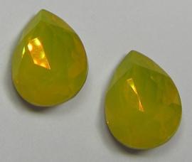 Glass Drop 13 x 18 mm Yellow Opal (per 1)