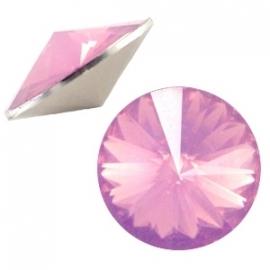 Resin Rivoli 12 mm French Rose Opal (per 3)