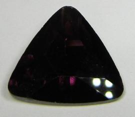 Glas Driehoek 23 mm Burgundy Purple Velvet (per stuk)