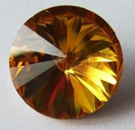 Glass Rivoli 18 mm Topaz G481 (per 1)