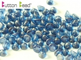 Button Bead Crystal GT Cerulean Blue (per 16)