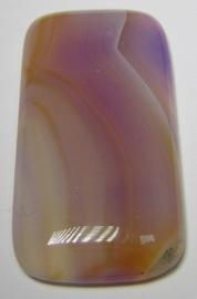 Cabochon Agaat Streep Lila Oranje C1182 (per stuk)