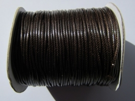 Waxed Cord 2 mm Coffee W032 (1 meter)