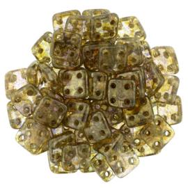 CzechMates QuadraTiles Luster - Transparent Gold/Sm.Topaz (per 5 gram)