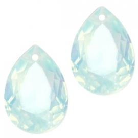 Resin Drop Pendant 10 x 14 mm Light Blue Turquoise Opal (per 2)