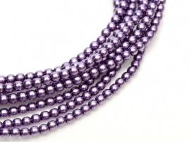 Glass Pearls Deep Lilac 2 mm (36 cm strand)