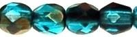 Fire Polished 3 mm Blue Iris - Capri Blue (per 75)