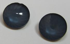 Glass Rivoli 12 mm Powdery Steel (per 2)