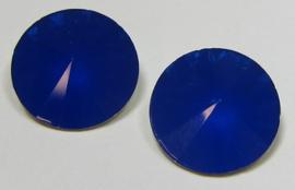 Resin Rivoli 16 mm Royal Blue Opal (per 2)