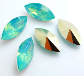 Resin Navette 7 x 15 mm Pacific Opal (per 3)