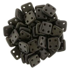 CzechMates QuadraTiles Metallic Suede - Dk. Green (per 5 gram)